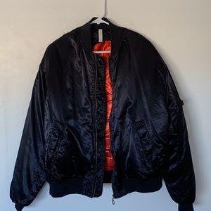 Zara men's oversized bomber jacket